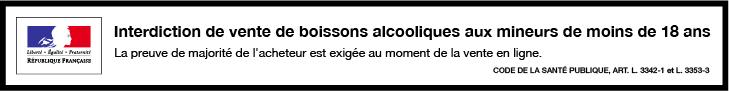 Interdiction de vendre de l'alcool aux mineurs de mins de 18 ans.
